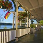 Photo of porch at the Lake House at Ferry Point Inn