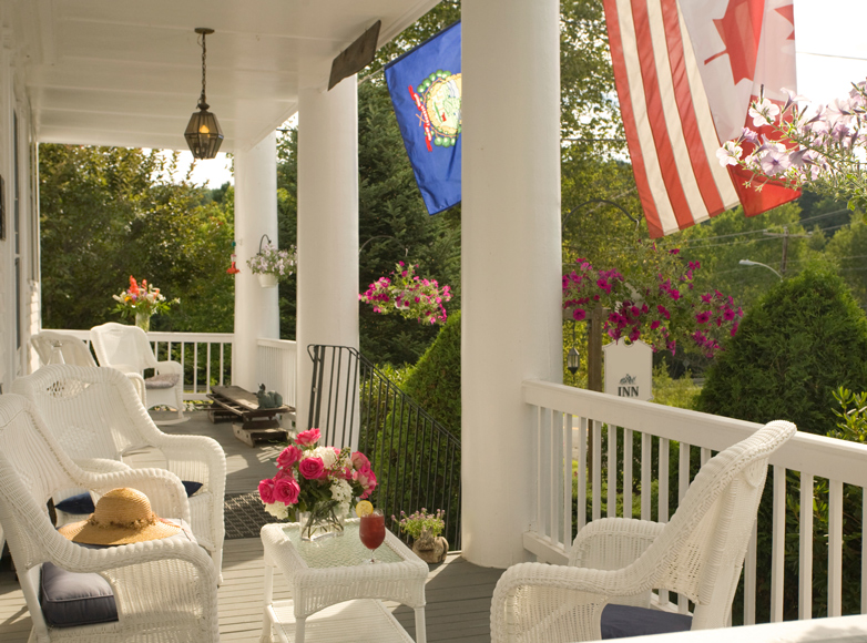 Photo of guest porch at VT Inn