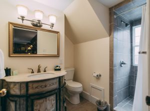 Photo of guest room bath at TN inn for sale