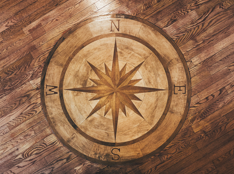 Floor detail at Tennessee inn for sale