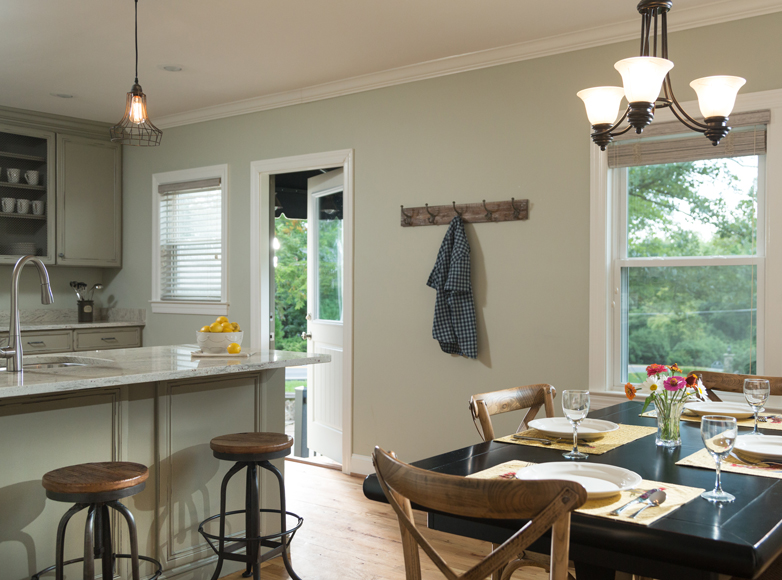 Photo of dining room and kitchen at Lookout Mountain GA Inn