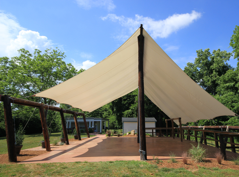 Photo of tension canopy and pavilion at NC Inn for sale