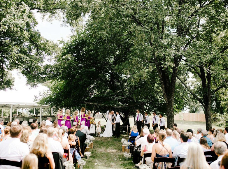 Photo of wedding ceremony at Asheville NC area Inn for sale