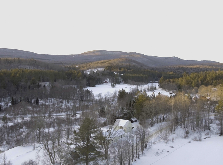 Aerial photo of Landgrove Vermont real estate for sale